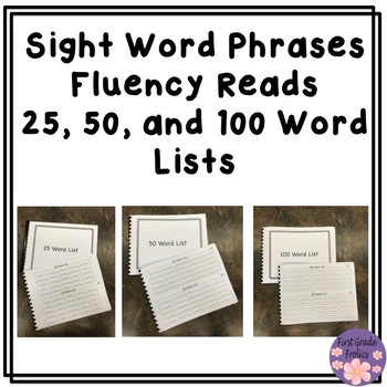 Sight Word Phrases Fluency Reads Bundle