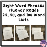 Sight Word Phrases Fluency Reads Bundle