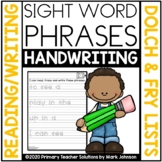 Sight Word Phrases: Read, Trace, Write Handwriting