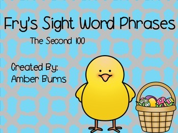Sight Word Phrases: Second 100 for April