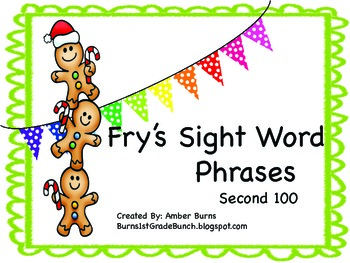Sight Word Phrases: Second 100 for December
