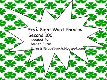 Sight Word Phrases: Second 100 for March