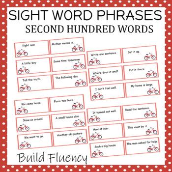 Sight Word Phrases Reading Fluency Third Hundred Words