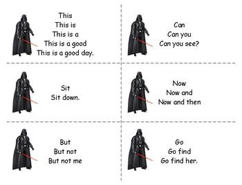 Sight Word Phrases Third Hundred Words Star Wars