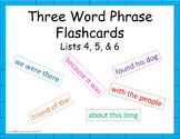 Sight Word Phrases Flashcards for Fluency - Lists 4,5,6