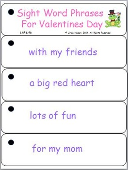 Valentines Day Sight Word Phrases