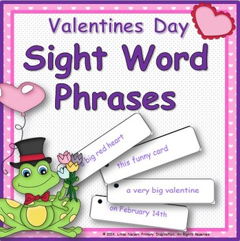 Valentine's Day Sight Word Phrases