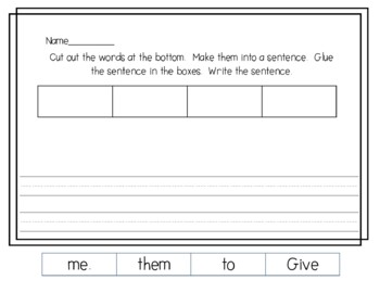 Sight Word Phrases for Fluency and Sight word Recognition Practice