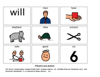Sight Word Picture Cards Level 1 BUNDLE