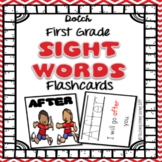 Sight Word Flashcards with Pictures and Sentences - First Grade