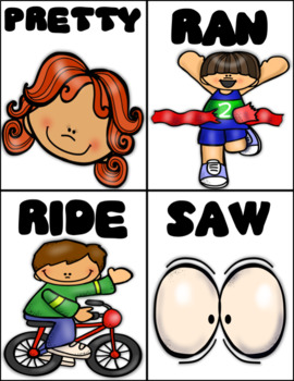 Sight Words Picture Flashcards - Primer