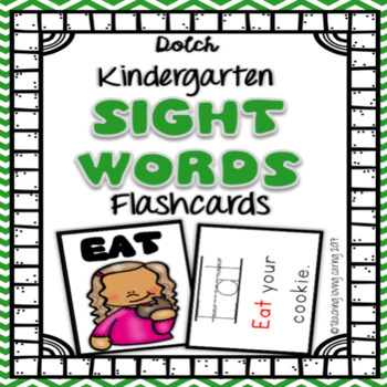 Sight Word Flashcards - Kindergarten Dolch Primer