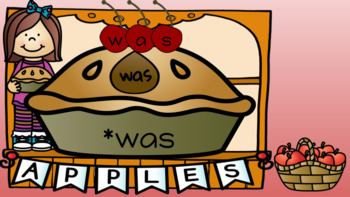Sight Word Pies - September Center (in Google: Digital and Interactive)