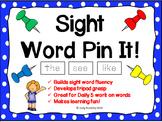Sight Word Pin It!