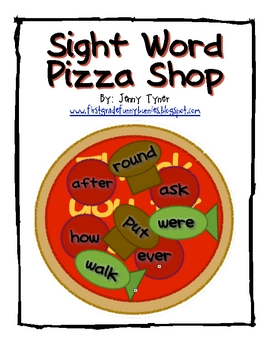 Sight Word Pizza Shop