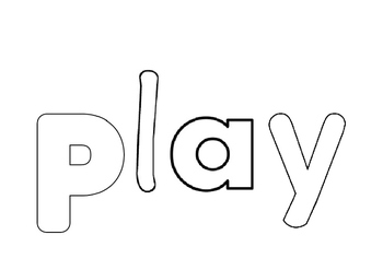 Sight Word: 'Play' Book