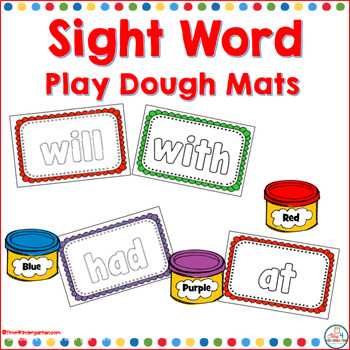 Sight word play doh mats are perfect for hands-on exploration with sight words using the first 100 words from the Fry list.