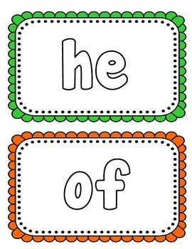 Sight Word Play-Doh Mats