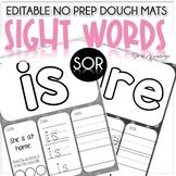 Sight Word Dough Mats Editable Literacy Center