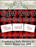 Sight Word Play-Doh Mats: Fry's First 100 Sight Words