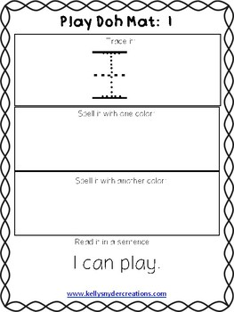 Sight Word Play Doh Mats - McGraw-Hill Wonders Aligned