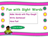 Sight Word Play-Dough Mat, reading, writing, sentences