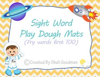 Play Dough Mats - Sight Word