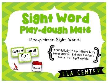 Sight Word Play-Dough Mats