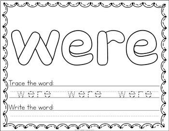 Sight Word Play Dough Mats - 1st Grade