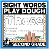 Sight Word Play Dough Mats - Second Grade Sight Words