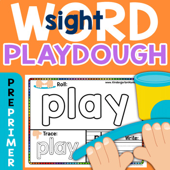 Sight Word Play Dough Mats: Dolch 220 PrePrimer