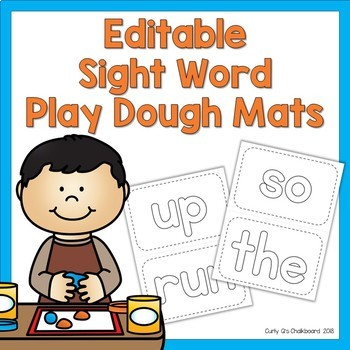 Sight Word Play Dough Mats- Editable