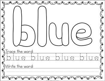 Sight Word Play Dough Mats - Pre Primer Sight Words