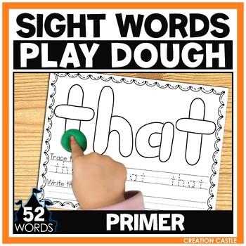 Sight Word Play Dough Mats - Primer
