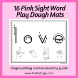 Sight Word Play Dough Mats with Handwriting Guides and Fingerspelling