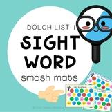 Sight Word Play Dough Smash Mats