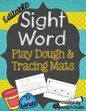 Sight Word Play Dough and Tracing Mats