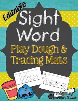 Sight Word Play Dough and Tracing Mats