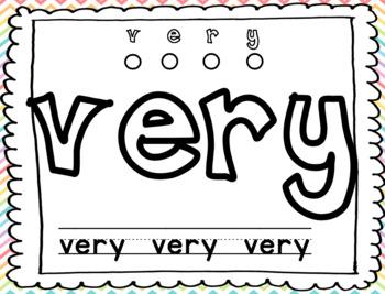 Sight Word Play-doh Mats--First Grade Journey's Unit 3 BUNDLE