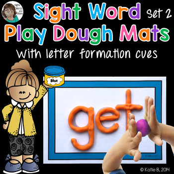 Playdough Mats - Sight Words (set 2)