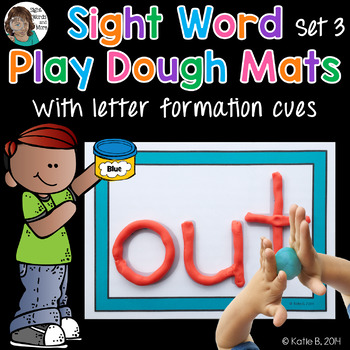 Playdough Mats - Sight Word (set 3)