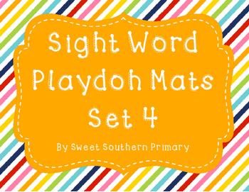 Sight Word Playdoh Mat Set 4