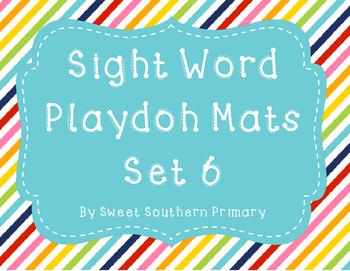 Sight Word Playdoh Mat Set 6
