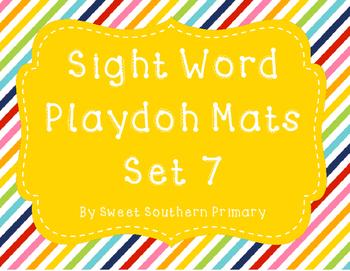 Sight Word Playdoh Mat Set 7