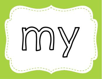 Sight Word Playdoh Mat Set 9