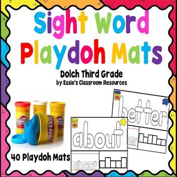 Sight Word Playdoh Mats - Dolch Third Grade