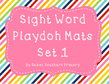 Sight Word Playdoh Mats Set 1