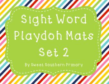 Sight Word Playdoh Mats Set 2