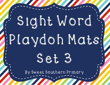 Sight Word Playdoh Mats Set 3