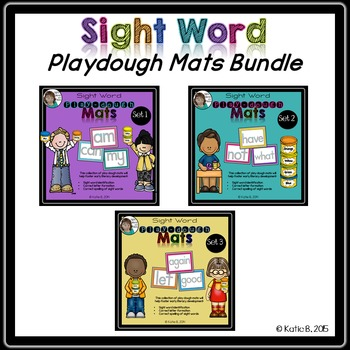 Sight Word Playdough Mats Bundle